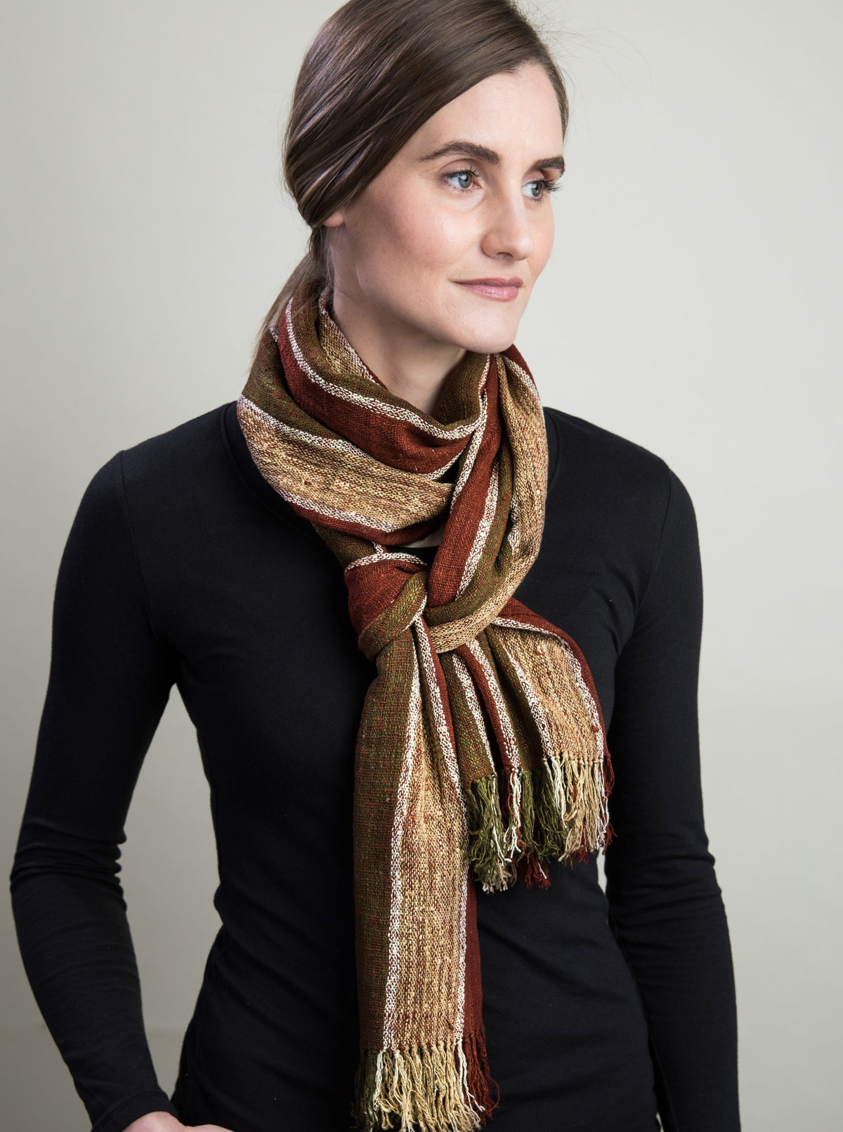 Naturally Dyed Hand-Made Fair Trade Scarf for Women and Men