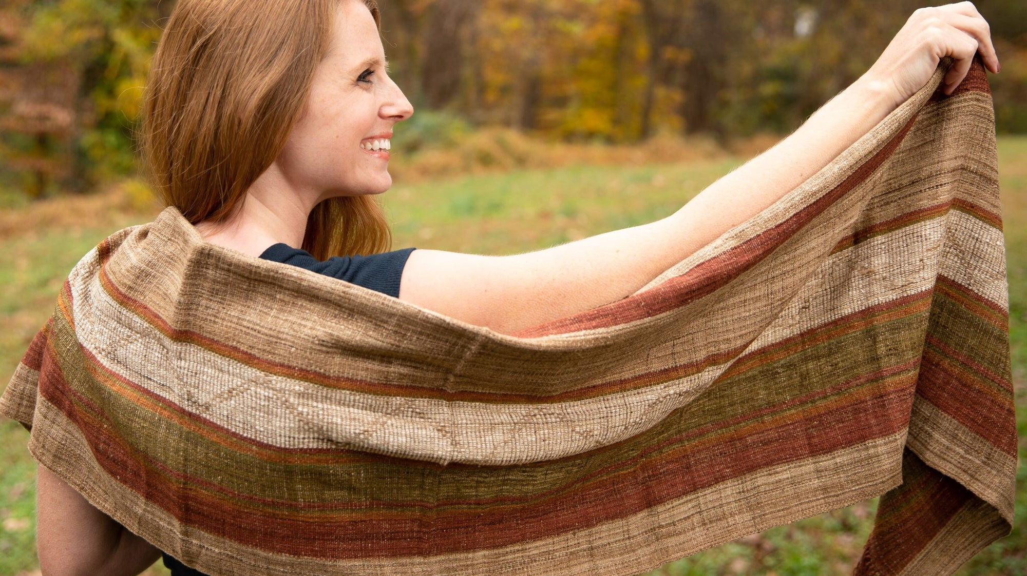 All-Natural Hand-Made Organic Silk Wrap Shawl for Women and Men