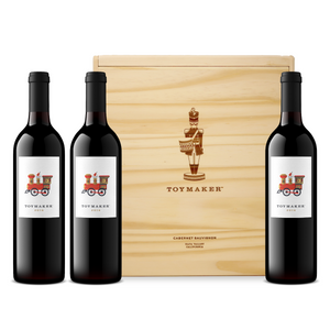 2016 ToyMaker Cellars Cabernet Sauvignon, Red Wine, Napa Valley, California, made by winemaker Martha McClellan of Sloan Estate, Checkerboard Vineyards, Levy & McClellan, and formerly of Harlan Estate. Best Napa Valley Grand Cru red wines. 3 bottle OWC original wood case.