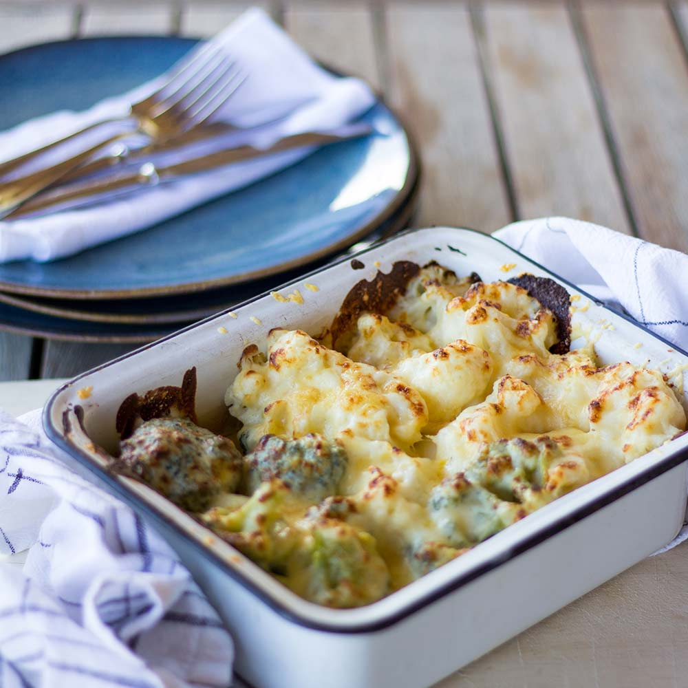 Baked Cauliflower & Broccoli (Side Portion for 2)