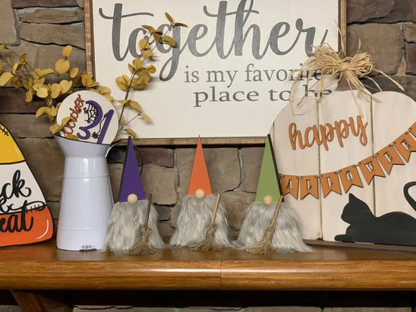 Halloween Witch Sister Gnomes Set