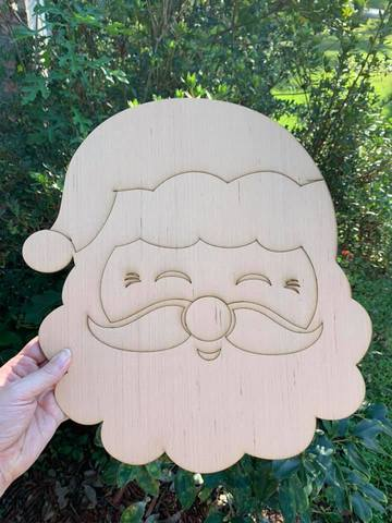 Santa Head Hand Blank - Unfinished