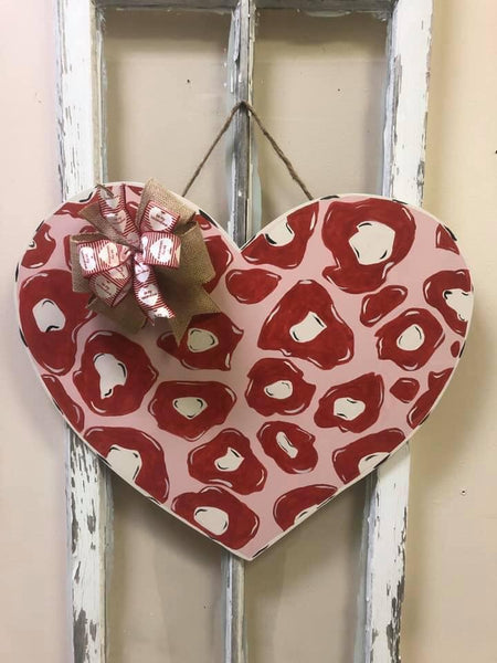 Leopard Heart  Door Hanger