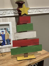Load image into Gallery viewer, Slatted table top Christmas tree wood cutout