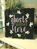 Ghosts Gather Here Pallet Sign DIY Kit