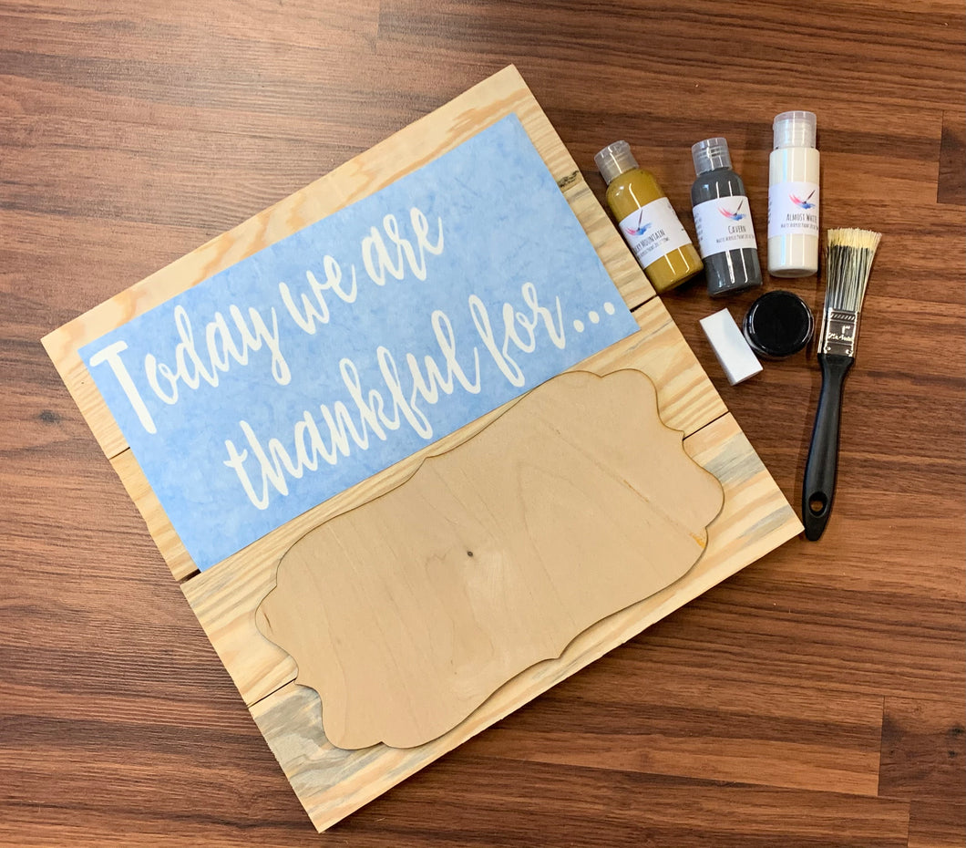 Today we are thankful for .... DIY Sign Kit