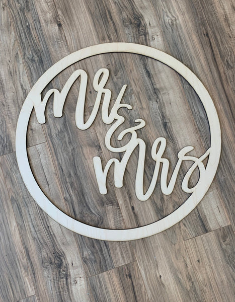Mr & Mrs Circle Blank - Unfinished