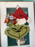 Grinch Head Door Hanger DIY Kit