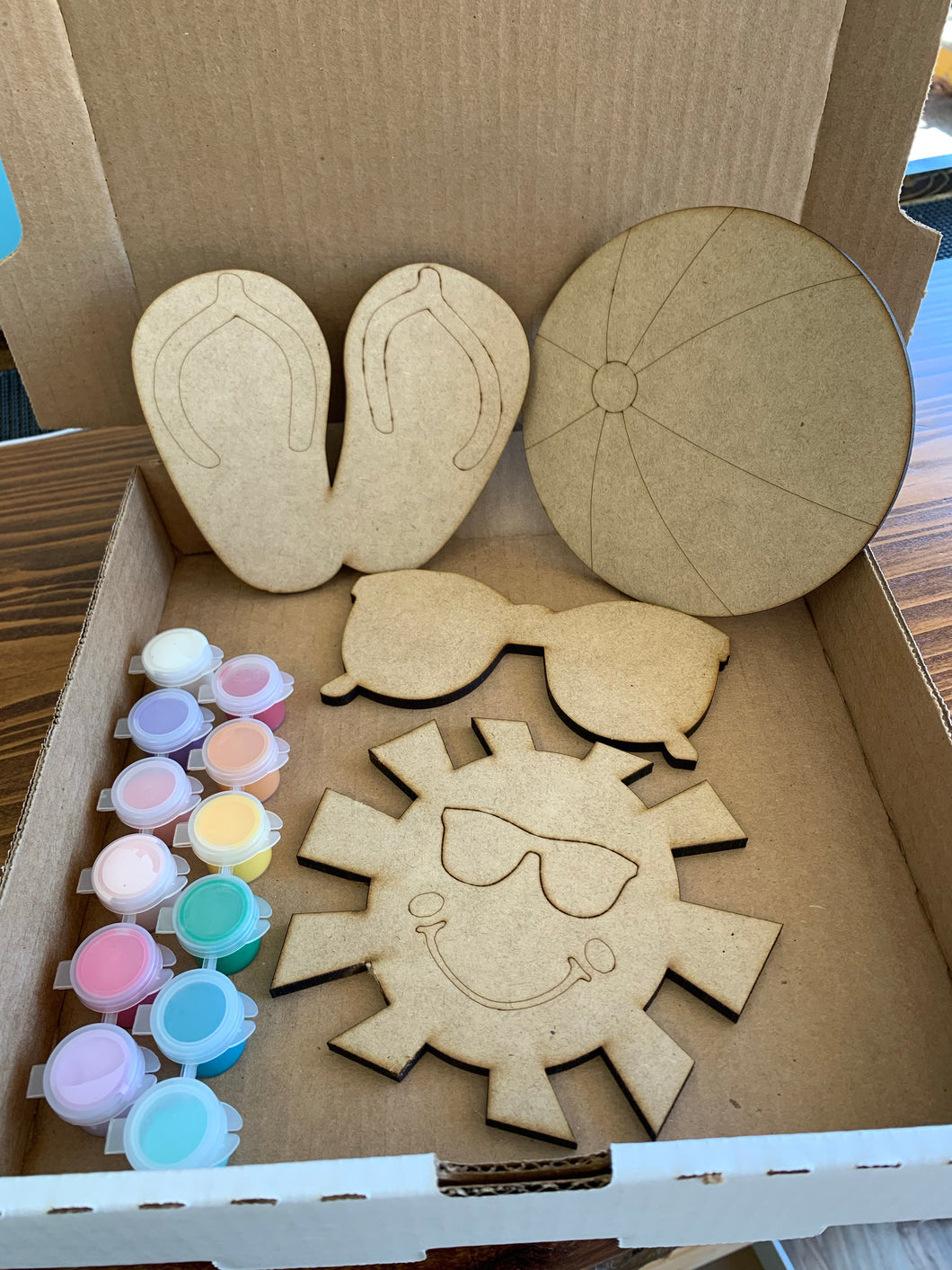 4pc Mini Beach Shapes