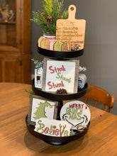 Load image into Gallery viewer, Grinch Tiered Tray 6pc Set