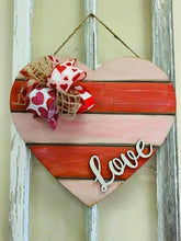 Load image into Gallery viewer, Shiplap love Heart Heart Door Hanger