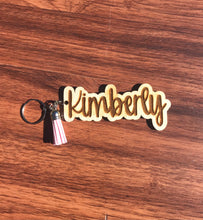 Load image into Gallery viewer, Personalized Wooden Keychain