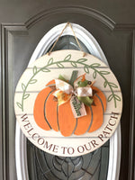 Welcome to our patch w/ pumpkin {personalized} DIY kit
