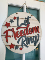 Let Freedom Ring Round DIY Take & Make at home kit