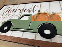"Load image into Gallery viewer, Harvest Blessings 18"" shiplap Sign Blank- Unfinished"