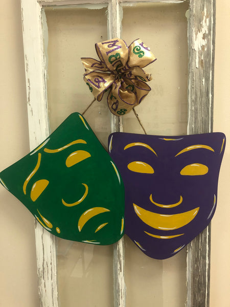Comedy and tragedy masks  Door Hanger