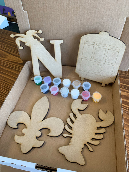4pc Mini NOLA Shapes DIY at home kit