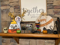 Candy Corn 3D Trick or Treat Shelf Sitter DIY Kit
