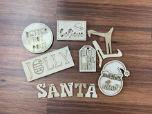 Load image into Gallery viewer, Santa Tiered Tray6pc Set