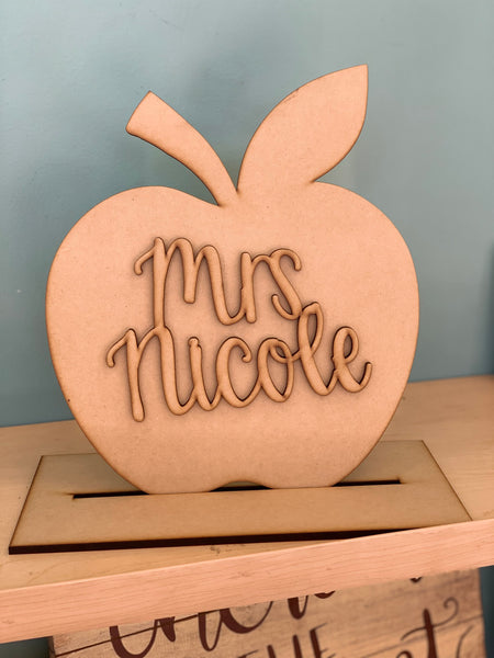 "3D Apple Teacher Gift 12"" DIY Take & Make Kit"