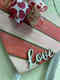 Shiplap Heart With Cutout Love on Top Door Hanger