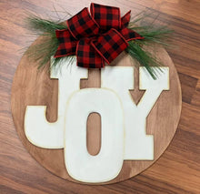 Load image into Gallery viewer, Joy Round with Greenery Sign or Door Hanger
