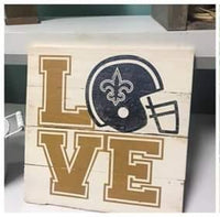 LOVE Saints with Helmet