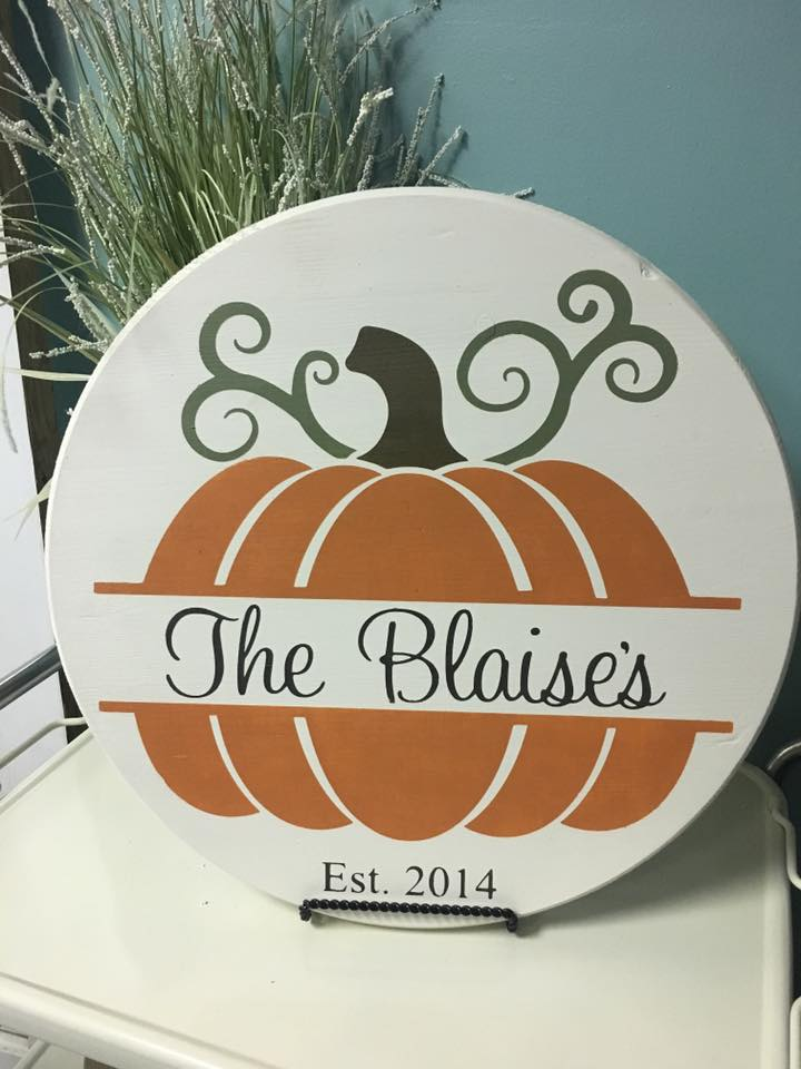 Personalized Pumpkin Round