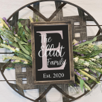 The Elliot Family Sign