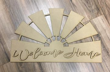 "22"" Windmill with 3D Welcome home wording"