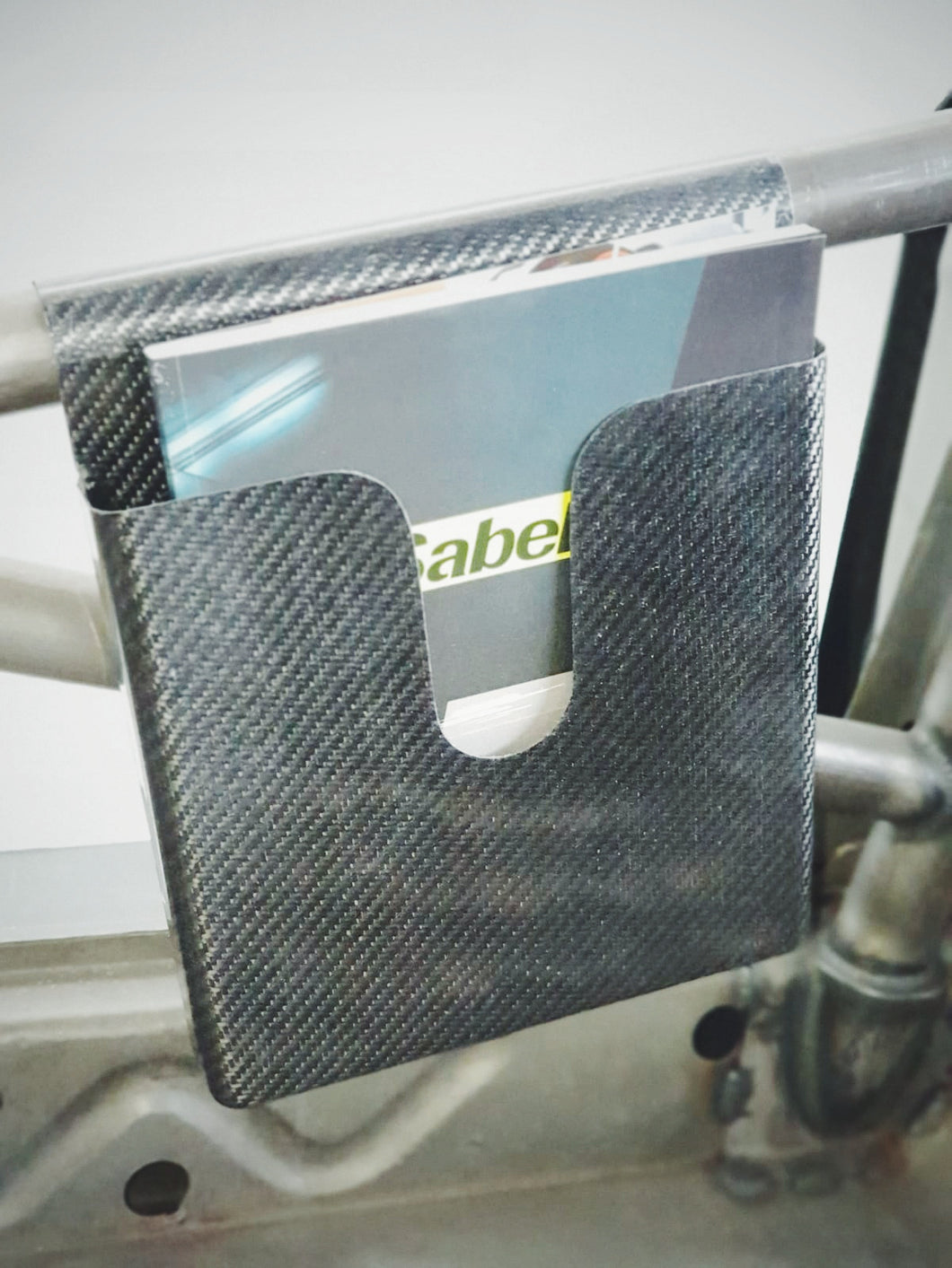Carbon Fiber roll cage mounted map pocket