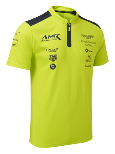 AMR Team Polo Shirt - Lime Green