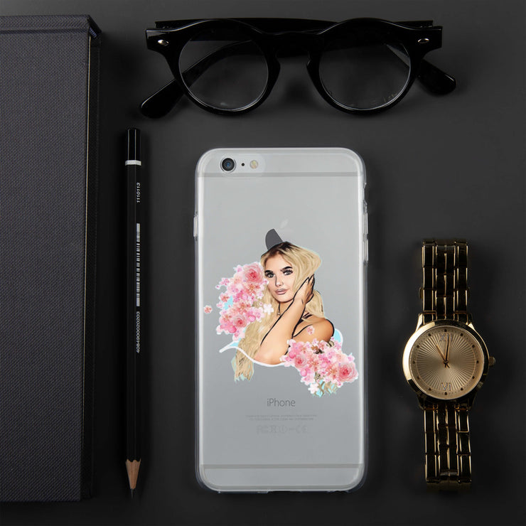 Amber+Flower iPhone Case