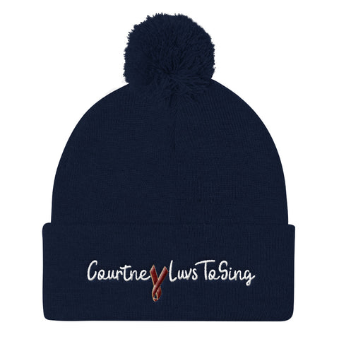 CourtneyLuvsToSing Pom Pom Knit Cap