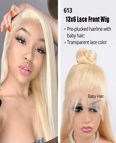 613 Brazilian Straight Lace Front Wig - Exclusive Hair