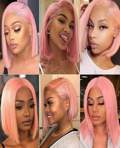Brazilian Lace Front Pink Wig - Exclusive Hair