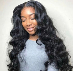 Medium Brown Lace 13*4 Body-Wave Lace Front Wig - Exclusive Hair