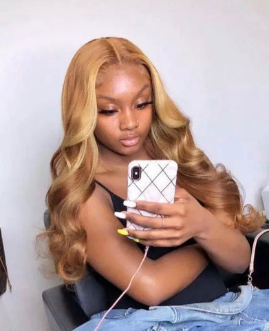 Honey Blonde Body wave Lace Front Wig - Exclusive Hair