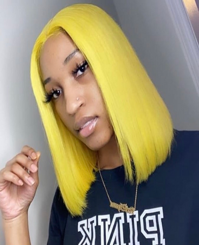 Brazilian Lace Front Yellow Wig - Exclusive Hair