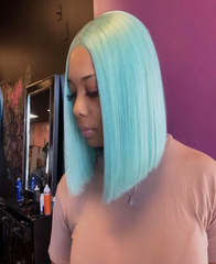 Brazilian Lace Front Light Blue Wig - Exclusive Hair