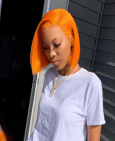 Brazilian Lace Front Orange Wig - Exclusive Hair