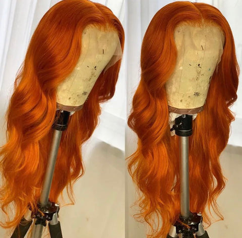 Orange Blonde Body Wave Lace Front Wig - Exclusive Hair