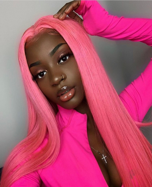 Pink Brazilian Lace Front Wig - Exclusive Hair