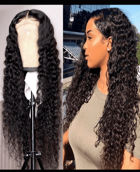 Water Wave Curly Brazilian Lace Front Wig  Medium Brown - Exclusive Hair