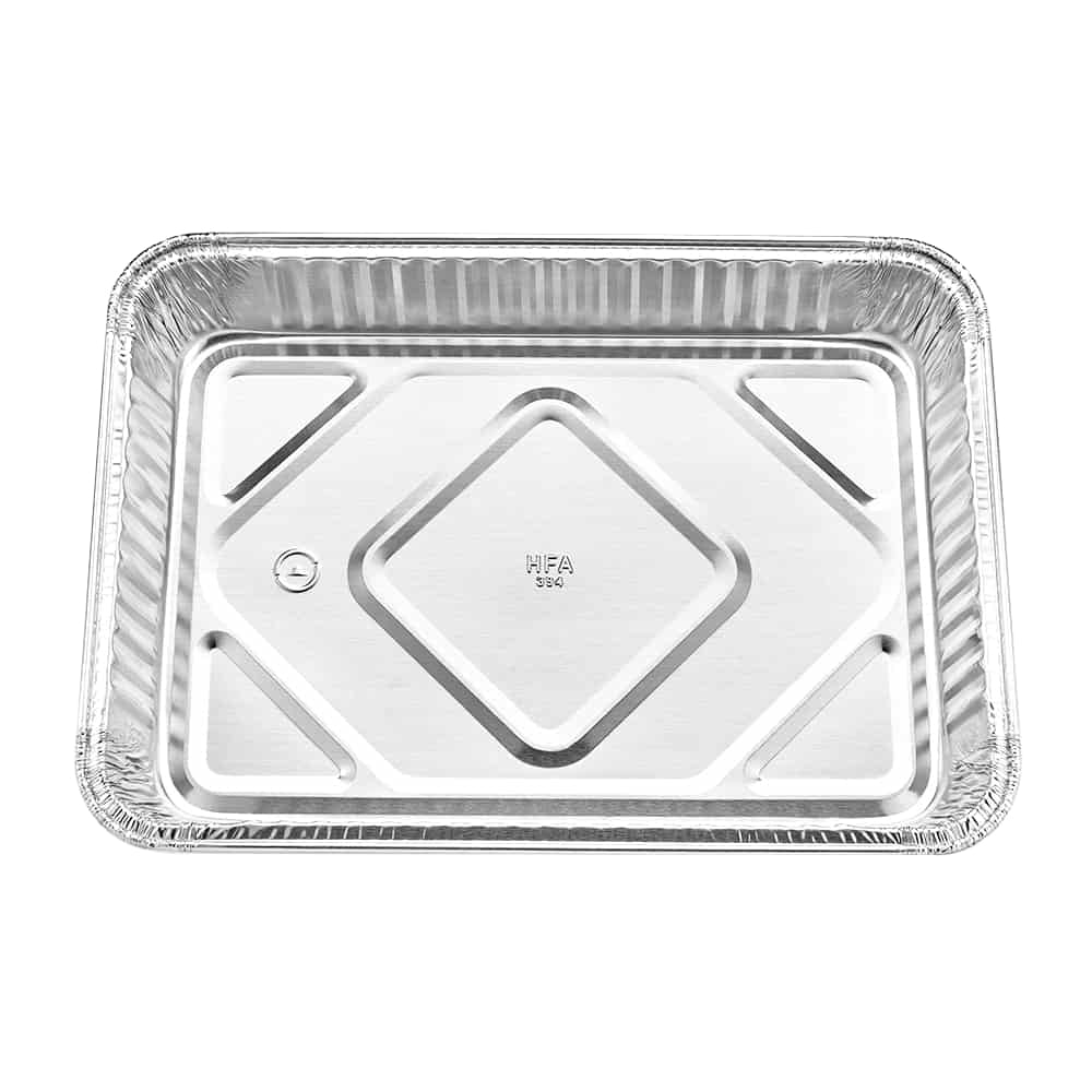 "Heavy Duty Aluminum Foil Oblong Cake Pan 13"" L X 9"" W X 1.875"" D [100 Count]"