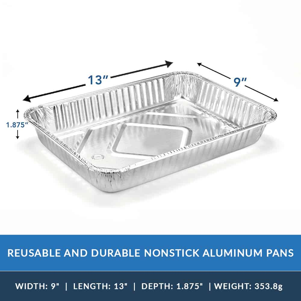 Heavy Duty Aluminum Foil Oblong Cake Pan 13