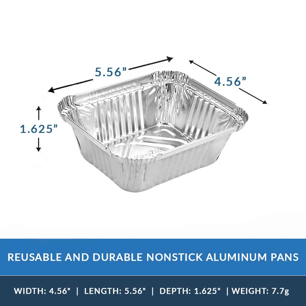 Aluminum Foil 1lb Oblong Pan with Dome Lid 5.56