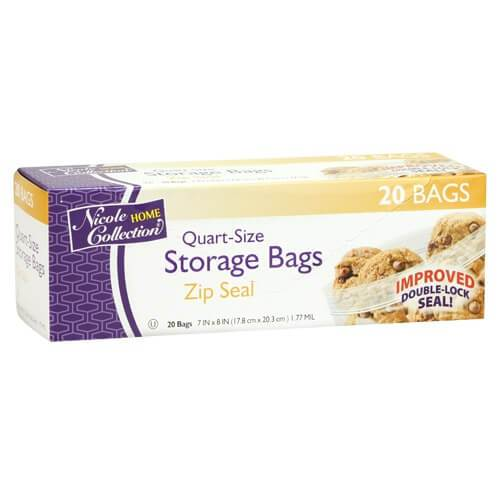 Premium Heavy Weight Plastic Zip Seal Storage Bags<br/>Size Options: 1qt Storage Bag