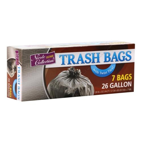 26 Gallon Trash Bags / Black