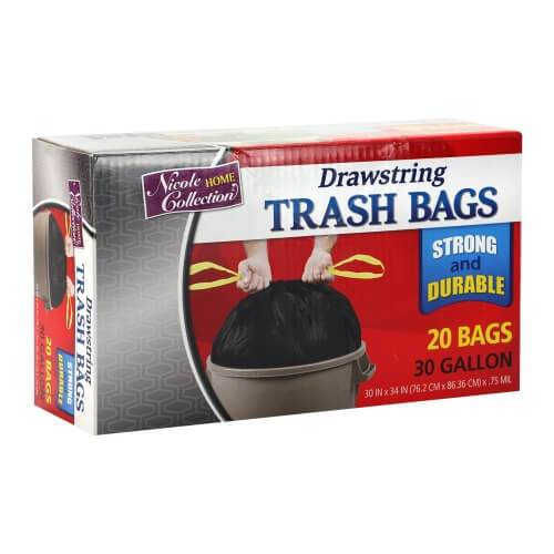 Premium Heavy Weight Plastic Trash Bags<br/>Size Options: 30 Gallon Trash Bags